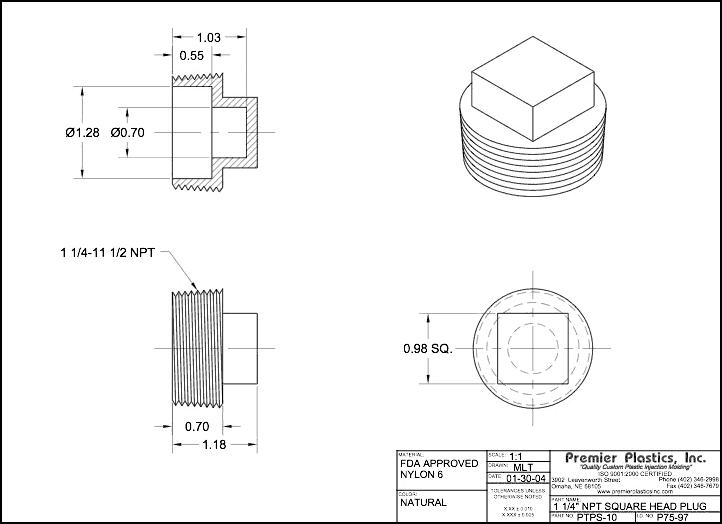 pipe fittings caps plugs rh premierplasticsinc com 1 4 Inch Connectors 1 4 Jack